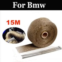 15m Motorcycles Exhaust Front Pipe Cloth Roll Motorbike Anti Hot Wrap Heat For Bmw F650gs F800gs F800r F800s F800st G450x G650x