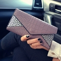 Miss Qian Bao long section hit color thin section bills folder wallet long section of the hasp wallet purse serpentine