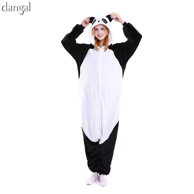 Kigurumi Panda Kigurumi Pajamas Panda Pajama Panda Onesie Fleece Pajamas  Panda Costume Unisex Couple Pajama Sets Warm Soft 0d29560f1c7eb