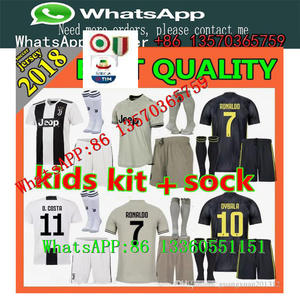 742228b36 2018 19Juventus soccer jersey +patch RONALDO DYBALA HIGUAIN kids kit 18 19  juve MARCHISIO BUFFON child Football Shirt unifo