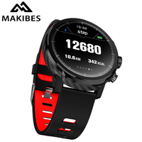 Makibes L5 Smart Watches Standby for 100 days 1.3 IP68 waterproof Weather Smartwatch Support Led lighting Message call reminder