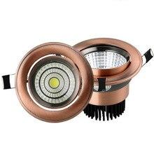 Europäischen COB Downlight 3 W/5 W/9 W/15 W AC85 265V Dimmbare Downlight Lampe Einbau beleuchtung innen beleuchtung