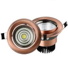 Luz descendente de mazorca Europea 3 W/5 W/9 W/15 W AC85 265V lámpara empotrada regulable iluminación interior