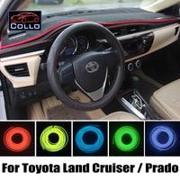 Car Console Decorative Strip / 9 M EL Wire For Toyota Land Cruiser 100 200 V8 Roraima Prado 120 150 / Romantic Atmosphere Lamp