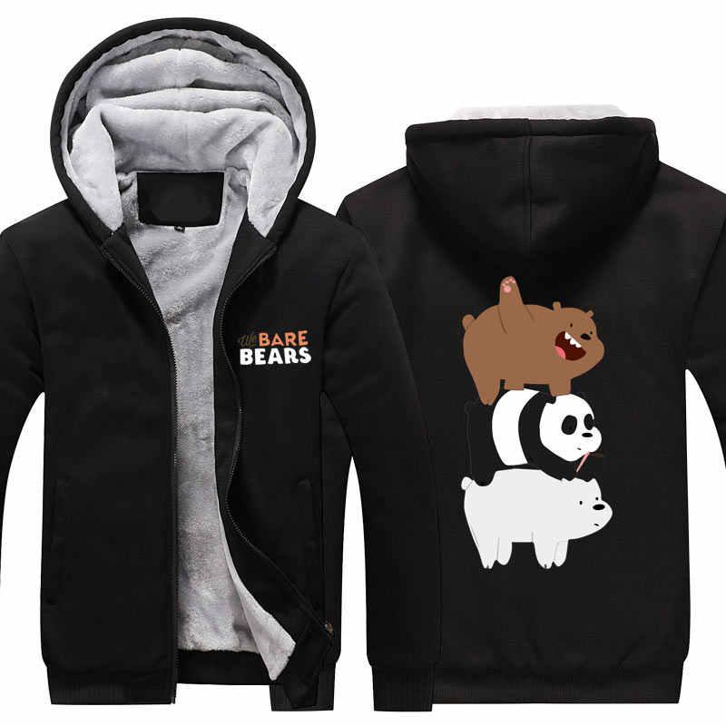 d166fd59 Мы Голые Медведи Толстовка Для мужчин и Для женщин зимние Повседневное  супер теплая куртка зимнее пальто