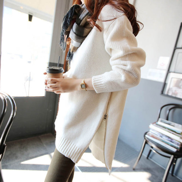 2016 autumn winter Turtleneck sweater women loose irregular thick pullovers female large size pull femme blouse