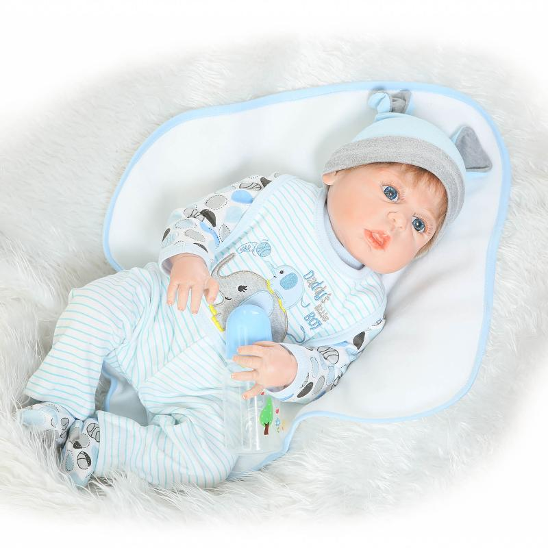 22 Silicone Reborn Babies Bebe Reborn Boy Doll with Free Magnet Pacifier Full Body Bathed Reborn Doll Brinquedo for Girls Toy christmas gifts in europe and america early education full body silicone doll reborn babies brinquedo lifelike rb16 11h10