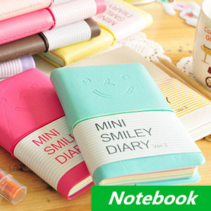 Smile Notebook Fitted Hard copybook Color diary book notepad Kawaii stationery Gift Zakka office material School supplies 6609