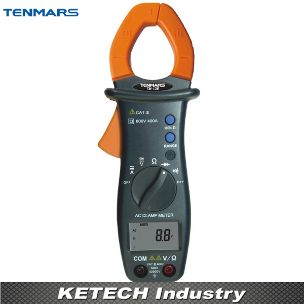 TENMARS TM12E Automatic Shift AC Digital Clamp Table Handheld Clamp Meter ac 3 1 2 lcd display automatic manual shift digital clamp meter tester tm 1012 tm1012