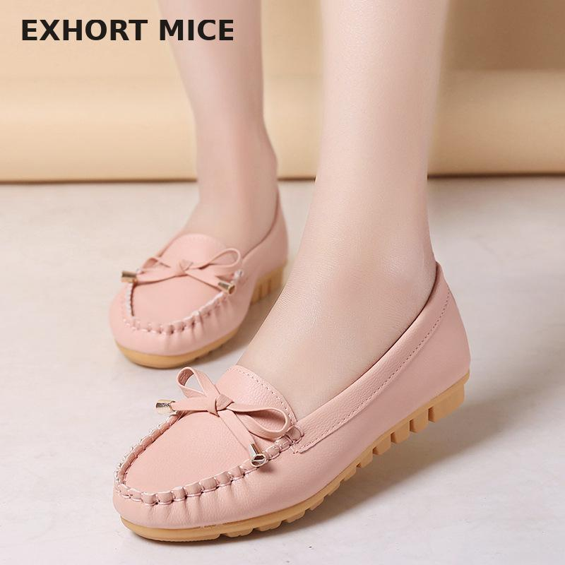 Flat Shoes Women Autumn Slip On Shoes For Women Loafers Moccasin Womens Zapatos Mujer Ballet Flats Womens Shoes Woman #D31