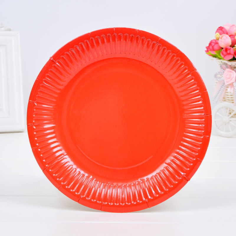 10pcs Wedding Disposable Table Decorations Dessert Paper Plates Theme Cake Food Buffet Plates Red Pink tableware tray-in Disposable Party Tableware from ...  sc 1 st  AliExpress.com & 10pcs Wedding Disposable Table Decorations Dessert Paper Plates ...