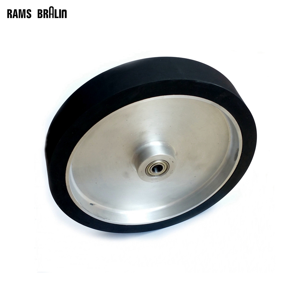 300*50mm Flat Belt Grinder Contact Wheel  Dynamically Balanced Rubber Polishing Wheel Abrasive Sanding Belt Set 4 6 inch od diagonal rubber contact wheel belt grinder wheel abrasive belt set 50mm width