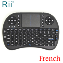 [Free Shipping] Original Rii i8 2.4G Wireless French Version Mini Keyboard for Android TV Box/PC High Quality Black Color