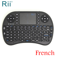Free Shipping Original Rii I8 2 4G Wireless French Version Mini Keyboard For Android TV