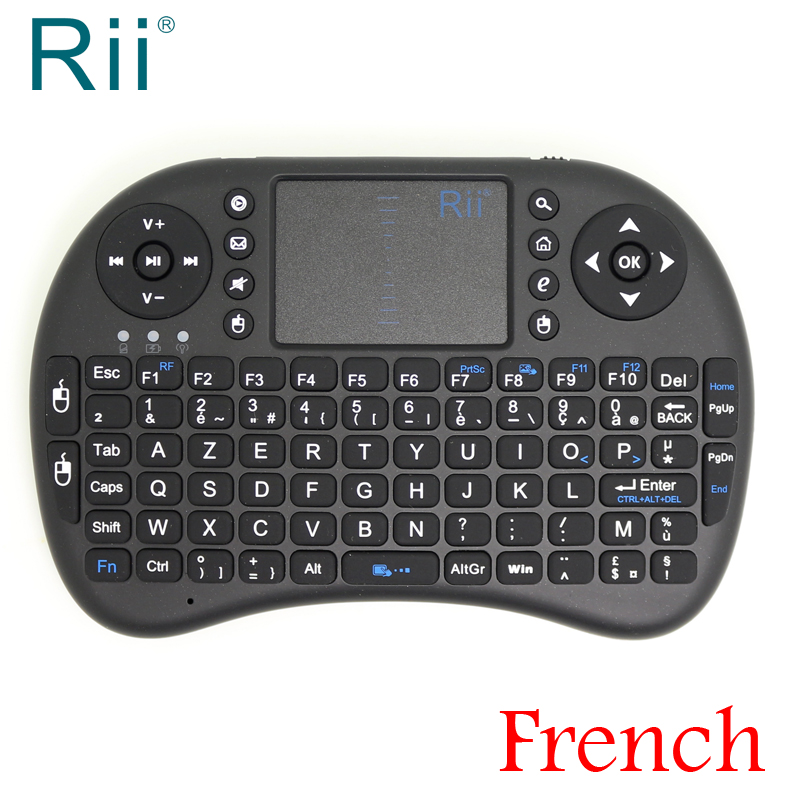 Original Rii i8 2.4G Wireless French Mini Wireless Keyboard for Android TV Box/Mini PC Avec Francais AZERTY Keyboard azerty french version slim 2 4g wireless keyboard for macbook laptop tv box computer pc android tablet with usb receiver