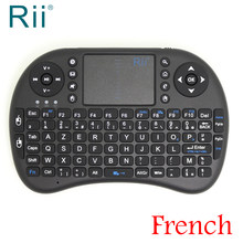"Asli Rii I8 2.4G Nirkabel Bahasa Perancis Mini Wireless Keyboard untuk Android TV Box/Mini PC Avec Francais"" azerty Keyboard(China)"