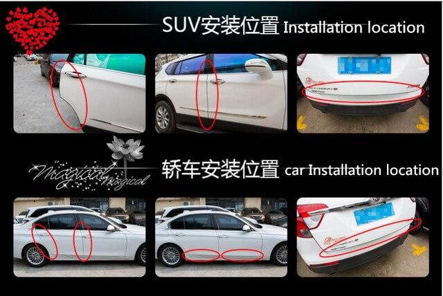 10 M Car Door Protection Rubber Stickers For Suzuki Gsxr 1000 04