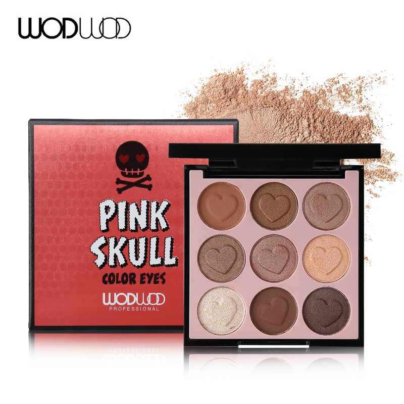 Wodwod Brand Pink Skull Color Eyes Makeup 9 Colours
