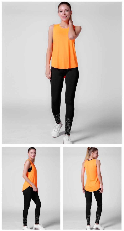 Conjuntos de yoga de secagem rápida para o ginásio correndo yoga camisetas e sutiã esportivo colete e calças de fitness treino conjunto de esportes