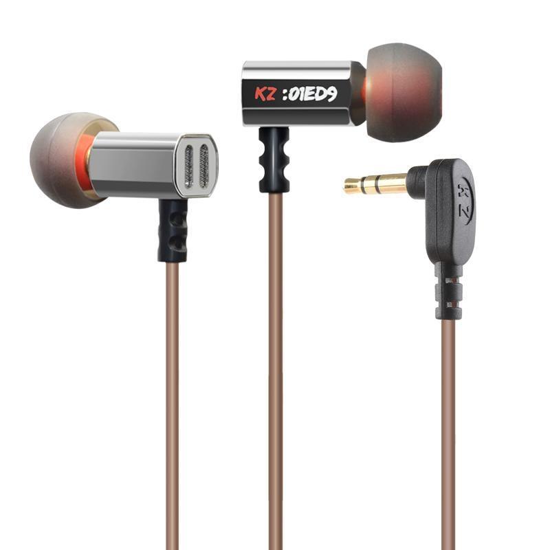 Original KZ ED9 Super Bass In Ear Music Earphone With DJ Earphones HIFI Stereo Earbuds Noise Isolating Sport Mic