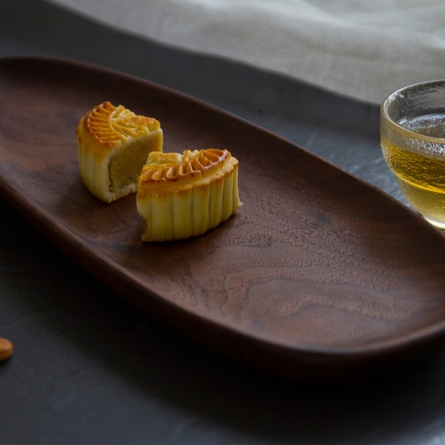 Wooden Entire Dessert Plates Irregular The Afternoon Tea Dishes Solid Wood Creativity Tableware Small Coffee Wood Dinner Plate  3