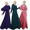 Islámico vestido de los musulmanes Abaya Kaftan árabe Hijab Pakistan turco Jilbabs traje para mujeres árabes de la ropa larga Abaya túnica #023