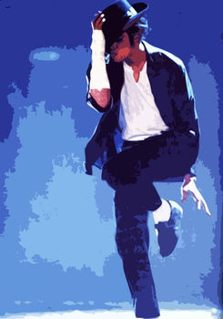 100%Handmade Michael Jackson Oil Painting 24x36 in. NOT a poster or print