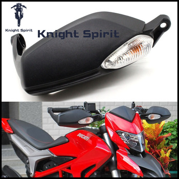 For DUCATI Hypermotard 820/Hyperstrada 821 2013 2014 2015 Motorcycle Right Brake Side HandGuard Handlebar Hand Guard with Light