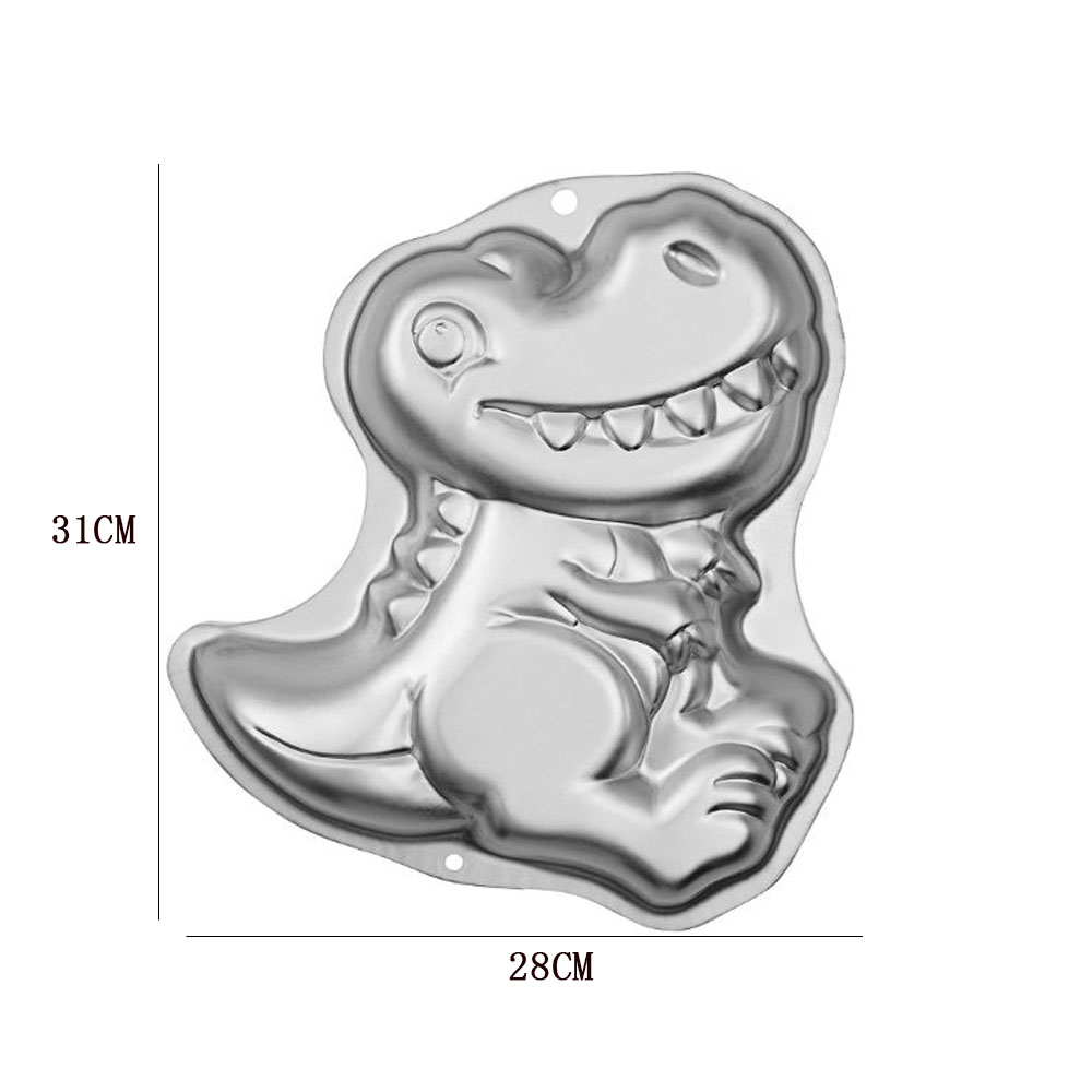 Image 5 - 3D Dinosaur Shape Cake Cookie Molds Fondant Cake Decorating Tools Jelly Molds Kitchen Pastry Baking Tool-in Cake Molds from Home & Garden