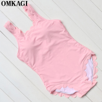 OMKAGI Brand Solid Bordered One Piece Swimsuit Women Swimwear Sexy Push Up Bodysuit Bathing Suit Summer