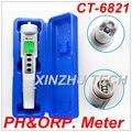 New CT-6821 Automatic Calibration Digital Waterproof pH & ORP Meter Portable Pen Type Range 0.0~14.0pH Water Analyzer Control