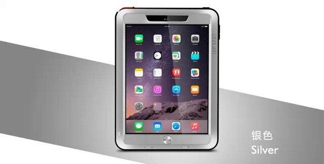 цена на Original Love Mei Shockproof Waterproof Aluminum Powerful Case Cover For iPad 2 3 4 Mini 1 2 3 Tempered Glass Screen Protector