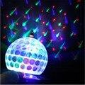 3 W luz do estágio levou AC85-265V Auto girar luz de Discoteca Bola de Cristal colorido DJ magia para o Partido, KTV, Bar