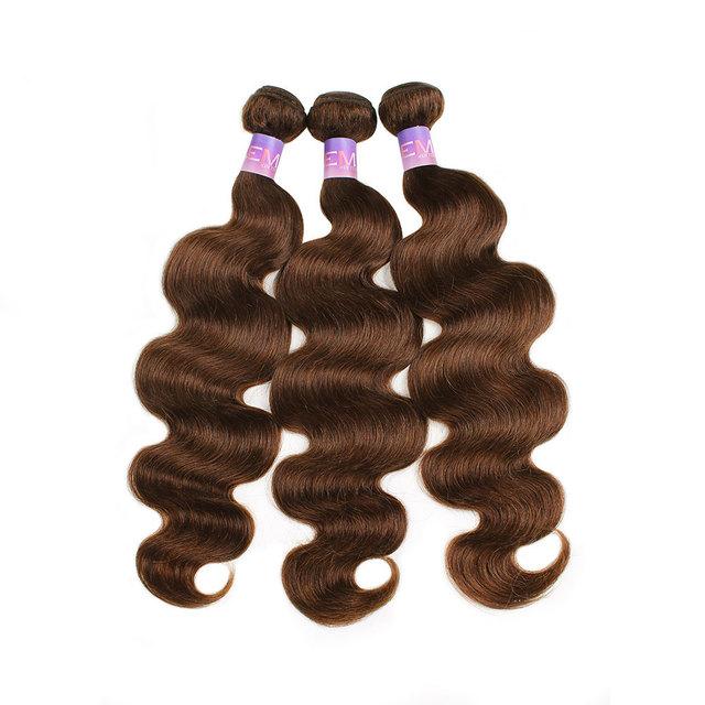 Medium Brown Body Wave Brazilian Human Hair Bundles