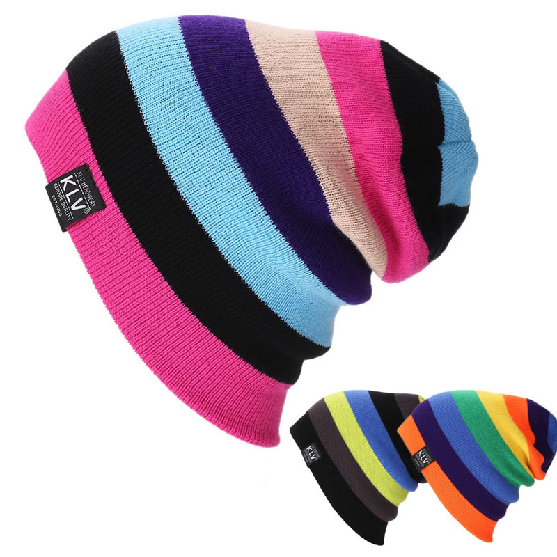Unisex Women Warm Winter Baggy Beanie Knit Crochet colorful Oversized Hats Slouch Ski Cap winter casual cotton knit hats for women men baggy beanie hat crochet slouchy oversized ski cap warm skullies toucas gorros 448e