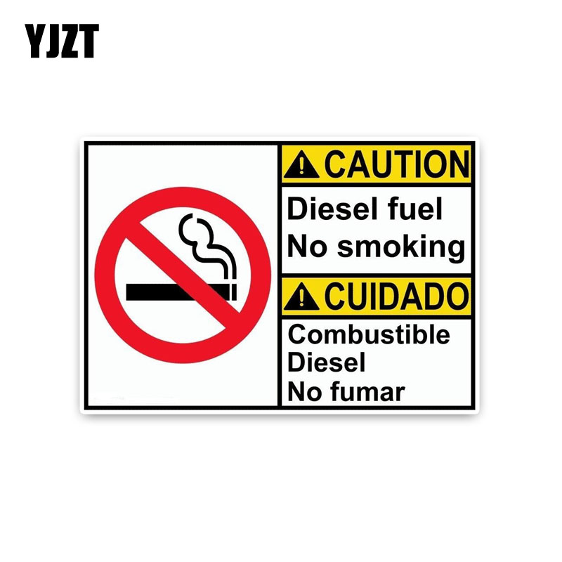 Yjzt 15.8*10.8 см личности внимание дизельного топлива не курить... Предупреждение признаки ПВХ Графический автомобиля Стикеры наклейка c1-8308