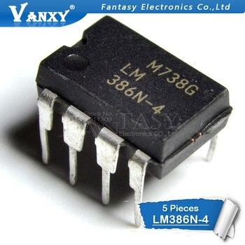 5PCS LM386N-4 DIP8 LM386-4 DIP 386N-4 New And  Original IC