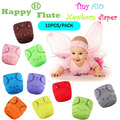 Happy Flute Tiny love Baby cloth diaper newborn 3 layers microfiber sewed inside breathable  cloth diaper