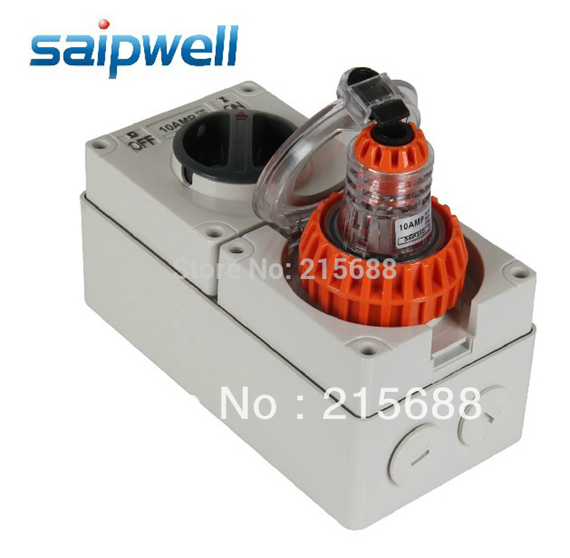 NEW 10A INDUSTRIAL SOCKET AND PLUGS SAIPWELL BRAND WATERPROOF SWITCH ON SOCKETS IP66 waterproof connectors 8pins fgg 1k 308 clad egg 1k 308 cll push pull self locking connector plugs and sockets 8pins
