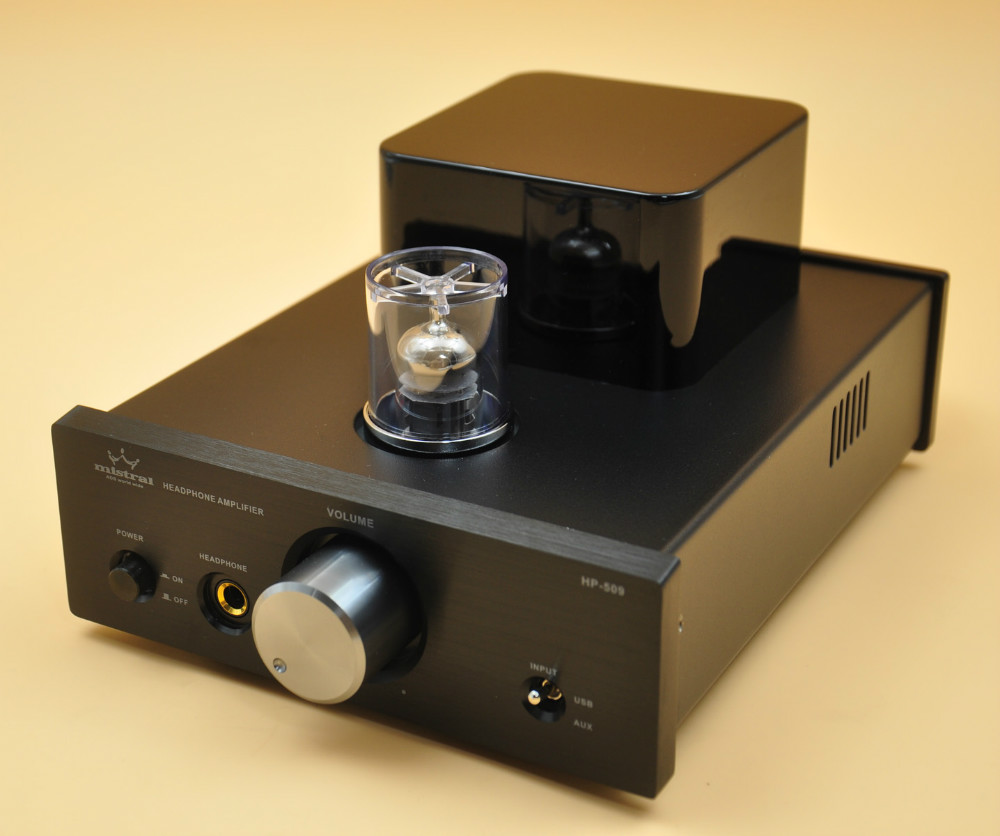 Mistral HP-509 Class A 진공관 헤드폰 앰프, 24 비트 / 192kHz DAC가있는 프리 앰프