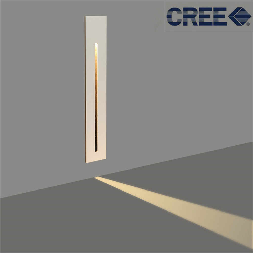 3W Recessed Led Stair Light AC85-265V Indoor Corner Wall lights Step Decoration Lamp Hallway staircase Lamps With CREE Chip