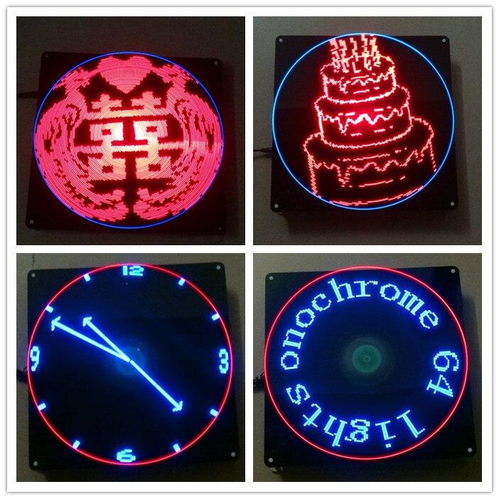 64 lampe rotatif LED POV publicité lampe kit de bricolage créatif LED Production électronique Suite électronique