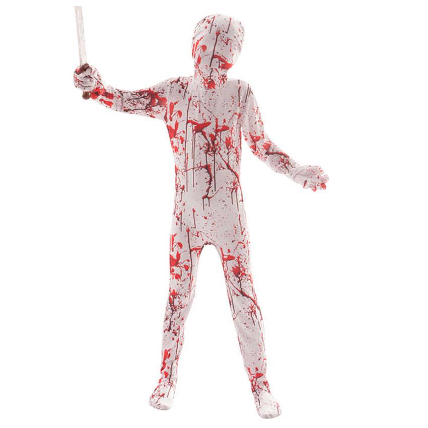 Horror Droog Corpse Ghost Spider Halloween Kostuum voor kinderen Enge Skelet Kostuum Fancy Dress Creepy Demon Purim Schedel Pak