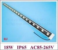 Светодиодная настенная шайба  18 Вт  высокая мощность  настенная шайба  световая лампа  светящаяся светодиодная лампа  AC85-265V W/WW/R/Y/B/G/RGB