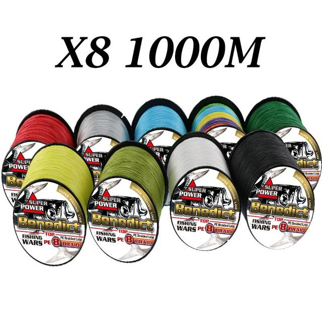 Special Price 1000M super fishing line for heavy trolling 8 Strands strong braided lines fishing 6-300LB 0.1mm-1.0mm fishing cord sea fishing