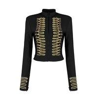 Fashion Noble Celebrity Full Sleeves Slim Zippers Button Bandage Sexy Party Women 2018 Coat Luxury Spring Stylish Jacket