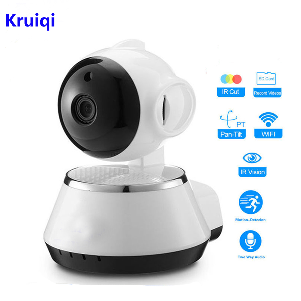 Kruiqi Home Security IP Camera Wireless WiFi Camera Surveillance 720P Night Vision,Pan/Tilt /Two Way Audio CCTV Baby MonitorKruiqi Home Security IP Camera Wireless WiFi Camera Surveillance 720P Night Vision,Pan/Tilt /Two Way Audio CCTV Baby Monitor
