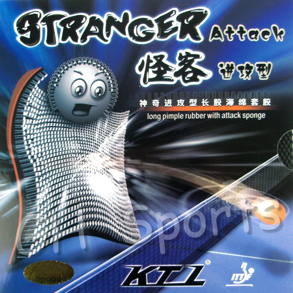 KTL Stranger Attack Long Pips-out Table Tennis PingPong Rubber With Sponge