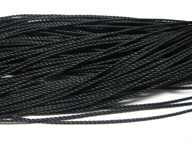 Polyester 5 Meter Waxed Thread Cords black 1mm