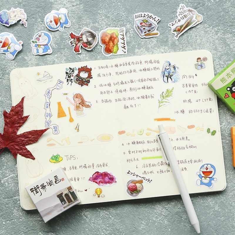 40 unids/caja Color lindo mármol pegatina de papel para decoración calcomanía álbum DIY Scrapbooking pegatinas sello papelería regalo Material Escol